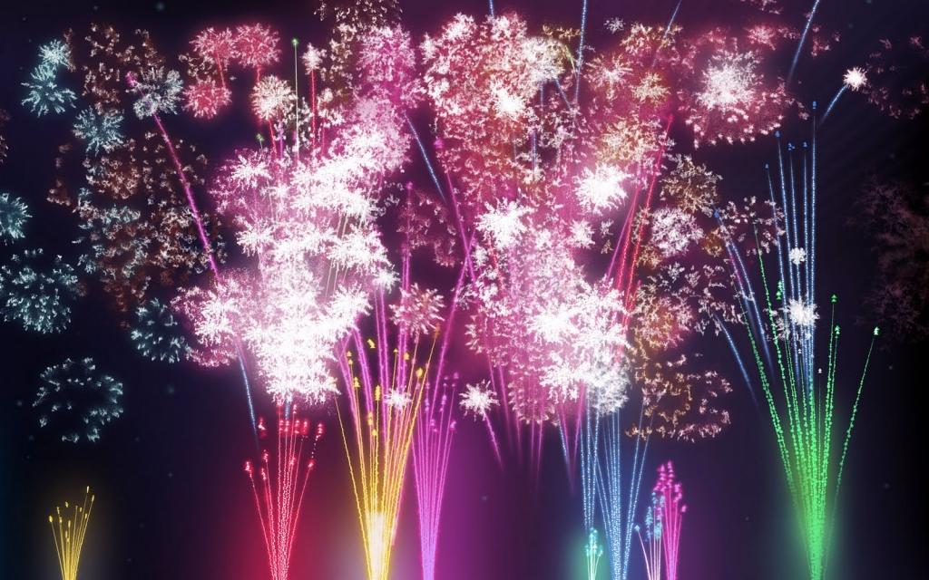 Fireworks wallpaper widescreen 2
